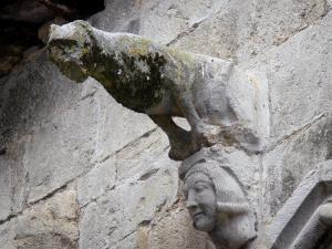 Caylus - Gargoyle shaped as wolve of the Maison des Loups (Wolves house)