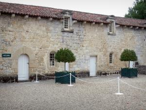 Cazeneuve castle - Castle courtyard - Reception