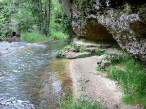 Cazeneuve castle - Castle park - Ciron gorges: walk along the river leading to the cave of the Queen