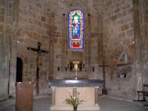 Le Chalard - Inside of the Romanesque church