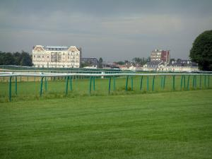 Chantilly - Racecourse (race track) and buildings in background