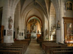 Chaource - Inside of the Saint-Jean-Baptiste church