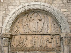 La Charité-sur-Loire - Inside the Notre-Dame priory church: tympanum of the Transfiguration