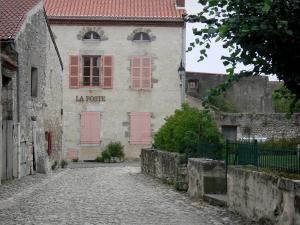 Charroux - Paved street leading to the post office of Charroux