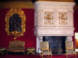 Château de Chenonceau - Inside of the castle: Louis XIV lounge (fireplace)