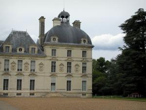 Château de Cheverny - Château of Classical style and trees in the park