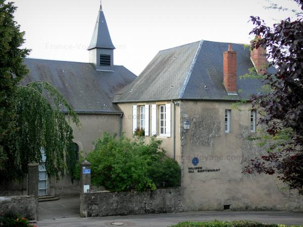 Château-Chinon - Old convent of the Clarisses (Poor Clares) home to the Septennat museum; in the Morvan Regional Nature Park