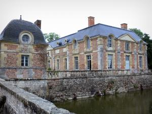 La Château de La Ferté-Saint-Aubin - Entrance pavilion, moats and orangery; in Sologne