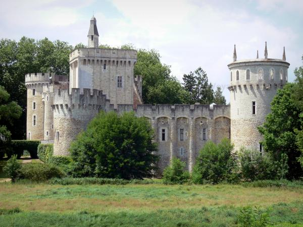 Château-Guillaume - Medieval fortress surrounded by trees; in the town of Lignac, in the Allemette valley, in La Brenne Regional Nature Park