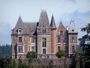 Château de Mesnil-Glaise - Facade of the château; in the town of Batilly