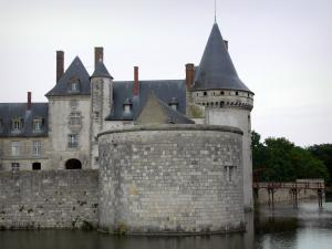 Château de Sully-sur-Loire - Medieval fortress, moats (la Sange) and bridge