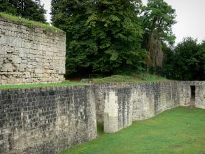 Château-Thierry - Old castle: Thibaud tower (keep) and dry ditch