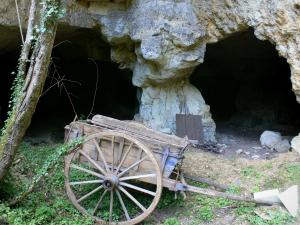 Château de Valençay - Park of the château: tufa caves and cart