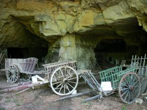 Château de Valençay - Park of the château: tufa caves and carts