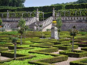 Château de Villandry and gardens - Vegetables of the vegetable garden and stair