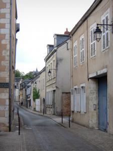 Châteauroux - Street and facades of houses in the old town