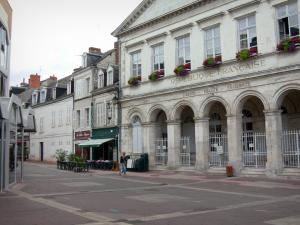 Châteauroux - Facades of houses and of the former Town Hall