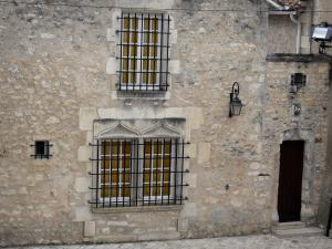 Chauvigny - Facade of a house of upper town (medieval town)
