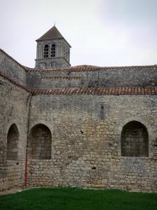 Chauvigny - Inside of the Harcourt castle and bell tower of the Saint-Pierre collegiate church