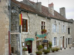 Chauvigny - Stone houses of the upper town (quoted medieval)