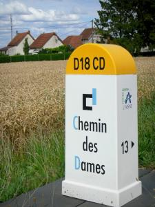 Chemin des Dames - Road stone of the Chemin des Dames on the RD 18 CD