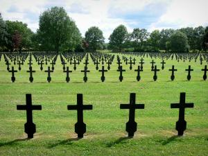 Chemin des Dames - Graves of the German military cemetery in Malmaison