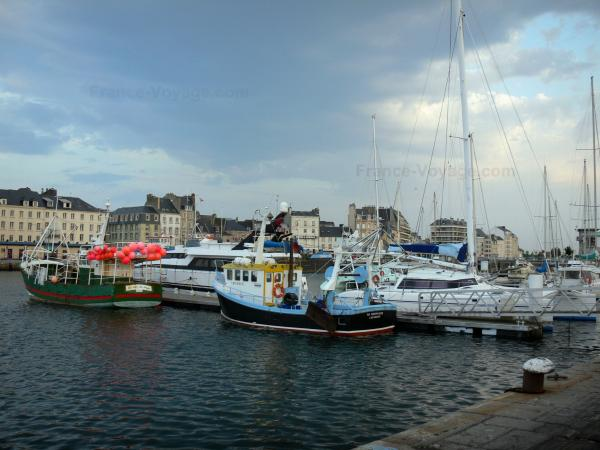 Cherbourg-Octeville - Port with its boats and buildings of the city