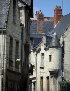 Chinon - Houses, one with a turret