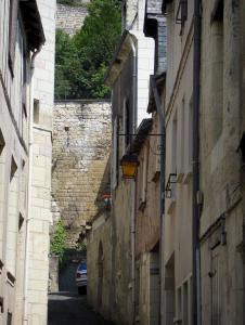 Chinon - Narrow street lined with houses