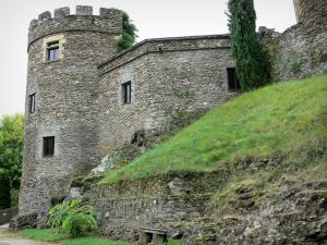 Chouvigny castle - Medieval fortified castle; in the Sioule valley (Sioule gorges)