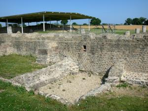 Cité gallo-romaine de Jublains - Site archéologique : temple gallo-romain