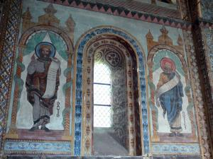 Civray - Inside of the Saint-Nicolas church Day: murals