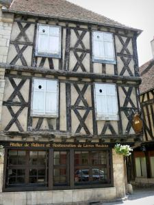 Clamecy - Old half-timbered house