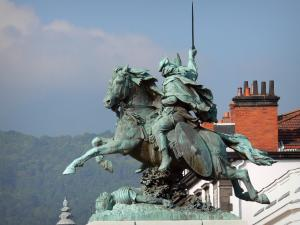 Clermont-Ferrand - Equestrian statue of Vercingetorix located on the Jaude square