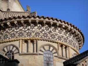 Clermont-Ferrand - Apse of the Romanesque basilica of Notre-Dame-du-Port decorated with mosaics