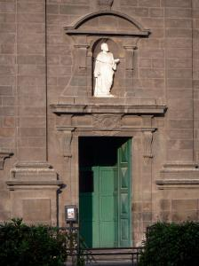 Clermont-Ferrand - Entrance to the Saint-Pierre-les-Minimes church