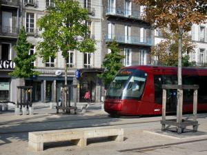 Clermont-Ferrand - Tram, trees and building facades