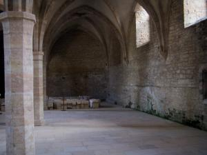 Cluny abbey - Benedictine abbey: inside of Farinier (Gothic building): cellar