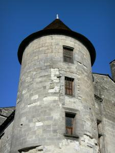 Cognac - Château of Cognac (Valois castle, François I castle) home to the company Otard Cognacs: tower of comte Jean