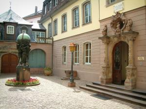 Colmar - Auguste Bartholdi's birth house (entrance to the Bartholdi museum)
