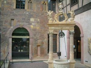 Colmar - Entrance to the Unterlinden museum (former Dominican convent)