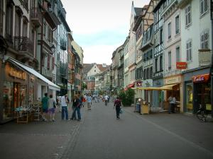 Colmar - Shopping street with its shops