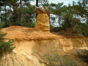 Colorado provenzale - Little Fairy Chimney, gli alberi (ex cave di ocra di Rustrel)