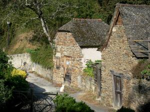 Conques - Stenen huisjes