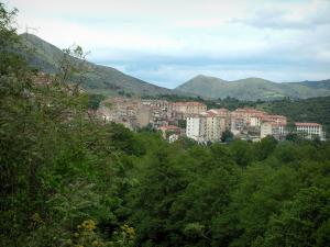 Corte - City of Corte surrounded by trees and mountains