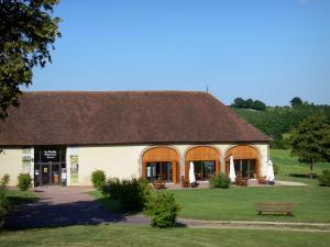 Courboyer manor - Outbuildings of the manor home to the information centre of the Perche Regional Nature Park (tourist information and fine food center); in the town of Nocé