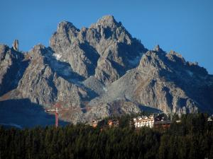 Courchevel - Mountain overseeing a spruce forest and residences
