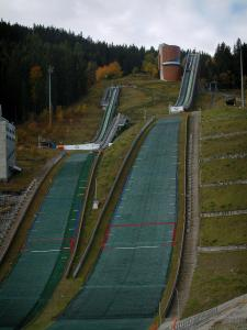 Courchevel - Ski jumping in the Olympic stadium of Courchevel (jump stadium of Praz)