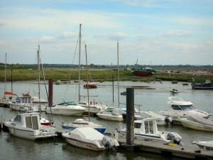 Le Crotoy - Bay of Somme: boats and sailboats of the marina