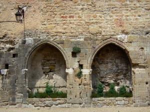 Cruis - Arcades of the cloister (remains of the abbey)